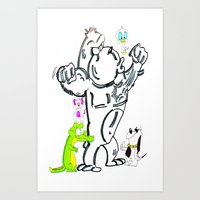 Cartoon Friends Art Print