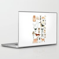 dogs Laptop & iPad Skins featuring Dogs by Rebecca Bennett