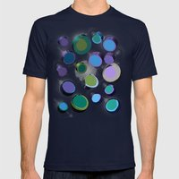 Floating Space Mens Fitted Tee Navy SMALL