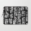 tribal in black and white Laptop Sleeve
