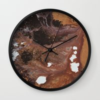 Copper abstract liquidity. Wall Clock