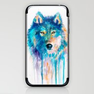 iPhone & iPod Skin featuring Wolf by Slaveika Aladjova