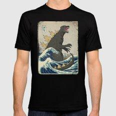 The Great Godzilla off Kanagawa Mens Fitted Tee Black SMALL