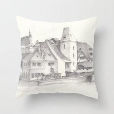 The Magic Town Throw Pillow
