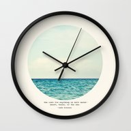 Wall Clock featuring Salt Water Cure by Tina Crespo