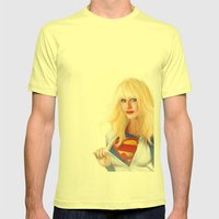 MOST ELIGIBLE KRYPTON Mens Fitted Tee Lemon SMALL