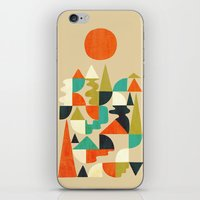 Mountains Hills and Rivers iPhone & iPod Skin