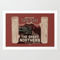 the Great Northern Hotel (Faux Canvas - rust) Art Print