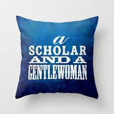 A Scholar and a Gentlewoman Throw Pillow