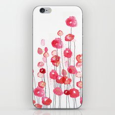 Poppies in Pink iPhone & iPod Skin