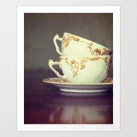 Two Tea Cups Art Print