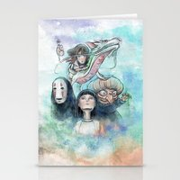 Spirited Away Watercolor… Stationery Cards