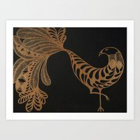 Golden Bird #2 Art Print