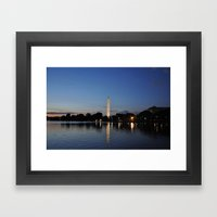 Washington Memorial Acro… Framed Art Print