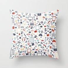 Icon pattern Throw Pillow