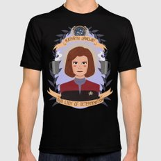 Kathryn Janeway Black Mens Fitted Tee SMALL
