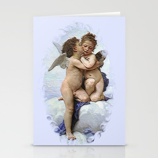 Bouguereau-First Kiss Stationery Card
