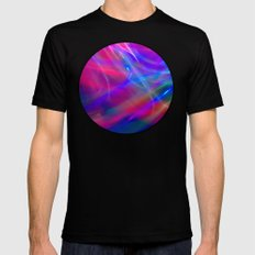 Colour Abstract SMALL Black Mens Fitted Tee