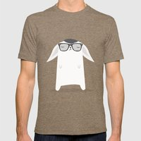 Hipster Bunny Mens Fitted Tee Tri-Coffee SMALL
