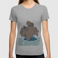 Surtseyan Volcanic Eruption Womens Fitted Tee Athletic Grey SMALL