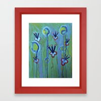 Blue Jolt Framed Art Print