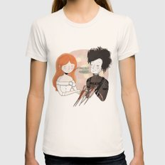 Hold Me Womens Fitted Tee Natural SMALL