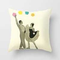 Throwing Shapes On The D… Throw Pillow