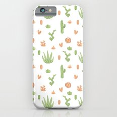Cacti Pattern Green/Orange Slim Case iPhone 6s
