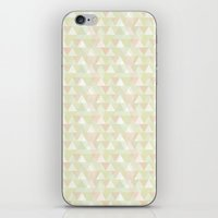 Pastel triangles iPhone & iPod Skin