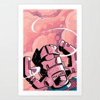 He Eats Planets For Brea… Art Print