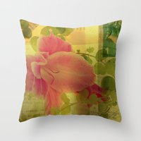 Flower Collage Throw Pillow