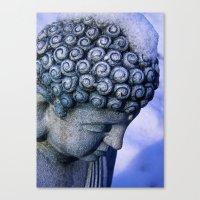 Buddha's Winter Prayer Canvas Print