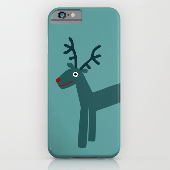 Reindeer-Teal iPhone & iPod Case