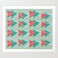 Triangles and lines Art Print