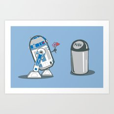 Robot Crush Art Print