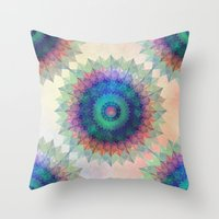 Leaf Mandala Throw Pillow