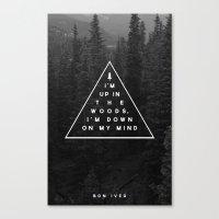 Woods -- Bon Iver Canvas Print
