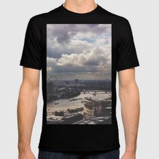 London Above SMALL Black Mens Fitted Tee