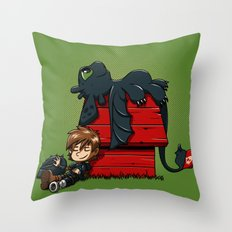Dragon Peanuts 2 Throw Pillow