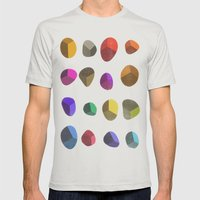 Painted Pebbles 2 Mens Fitted Tee Silver SMALL