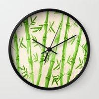 Bamboo Pattern Wall Clock
