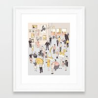 At the Museum Framed Art Print