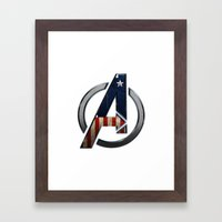UNREAL PARTY 2012 THE AVENGERS  CAPTAIN AMERICA  Framed Art Print