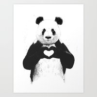 cute Art Prints featuring All you need is love by Balazs Solti