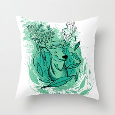 THE WOODS WHERE YOU LIVE. Throw Pillow