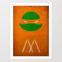 TMNT Mikey poster Art Print