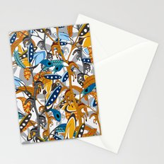Multicolor Horse Feathers Stationery Cards
