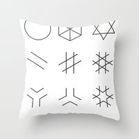 The Story of Geometry Throw Pillow
