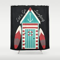 Let's Go Surfing. Shower Curtain