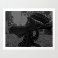 dark cloth Art Print